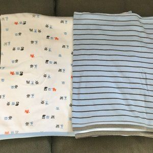 CARTER'S 2 Large Baby Receiving Swaddle Blankets